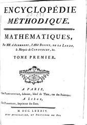 Encyclopédie méthodique: Mathématiques