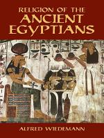 Religion of the Ancient Egyptians PDF