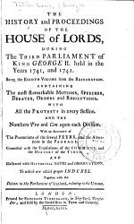 The History And Proceedings Of The House Of Lords From The Restoration In 1660 To The Present Time Book PDF