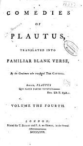Comedies of Plautus: Volume 4