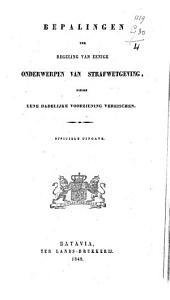 Bepalingen ter regeling van eenige onderwerpen van strafwetgeving welke eene dadelijke voorziening vereischen
