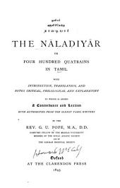The Nāladiyār: or, Four hundred quatrains in Tamil
