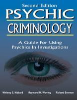PSYCHIC CRIMINOLOGY PDF