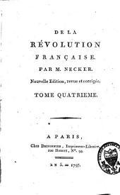 De la Révolution française: Volume4