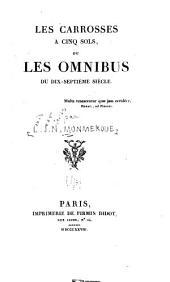 Les Carrosses à cinq sols où les Omnibus du dix-septième siècle