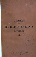 A Fragment of the History of Servia PDF