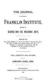 Journal of the Franklin Institute: Volume 137