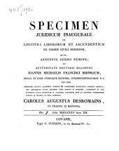 De legitima liberorum et ascendentium ex Codice Civile hodierno