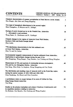 Chinese Journal of Polar Science PDF