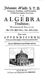 Johannis Wallis... opera mathematica....