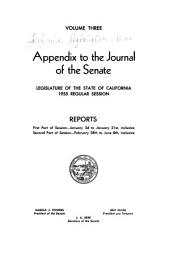 Journal of the Senate, Legislature of the State of California