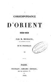 Correspondance d'Orient, 1830-1831: Volume1