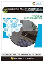 Proceeding Book of Proceeding Indonesian Textile Conference : textile 4.0 clothing and beyond (international conference)