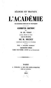 Séances et travaux de l'Académie des Sciences Morales et Politiques: Volume29