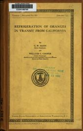 Refrigeration of Oranges in Transit from California