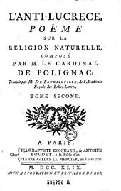 L'Anti-Lucrece Poeme sur la Religion Naturelle