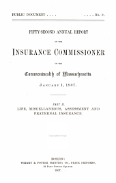 Annual Report of the Insurance Commissioner: Volume 52, Issue 2