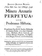 Experimentum novum de Minera arenaria perpetua