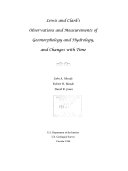 Lewis and Clark's observations and measurements of geomorphology and hydrology, and changes with time