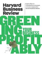 Harvard Business Review on Greening Your Business Profitably PDF