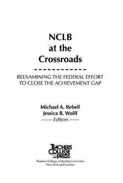 NCLB at the Crossroads PDF
