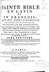 Sainte Bible en latin et françois