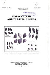 Inspection of Agricultural Seeds PDF