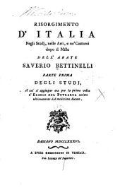 Risorgimento d'Italia negli studj, nelle arti e ne' costumi dopo il mille