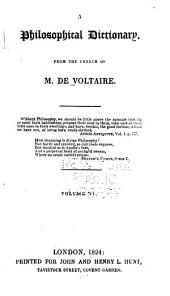 A Philosophical Dictionary: Volume 6