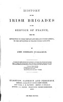 History of the Irish Brigades in the Service of France  PDF