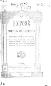 Vertoog van den bestuurlijken toestand der Provincie Limburg: voor het jaar ... 1853