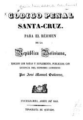 Código de procederes, Santa-Cruz: Edicion con notas i Suplemento