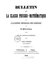 Bulletin de la Classe Physico Math  matique de l Acad  mie Imp  riale des Sciences de St  P  tersbourg PDF