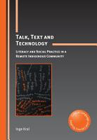 Talk  Text and Technology PDF