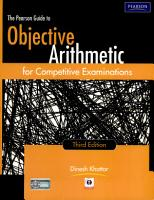 The Pearson Guide To Objective Arithmetic For Competitive Examinations  3 E PDF