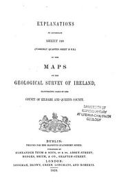 Explanatory Memoir to Accompany Sheets of the Maps: Volume 128