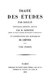 Traité des études: Volume1