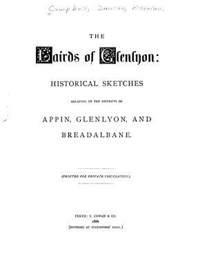The Lairds of Glenlyon PDF