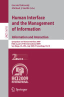 Human Interface and the Management of Information. Information and Interaction