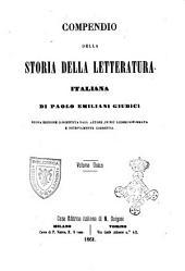 Compendio della storia della letteratura italiana di Paolo Emiliani Giudici
