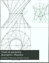 Traité de géométrie descriptive: Planches