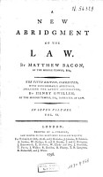 A New Abridgment of the Law PDF
