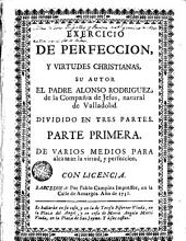 Exercicio de perfeccion, y virtudes christianas
