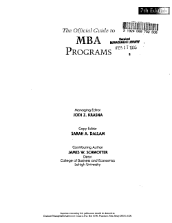 The Official Guide to MBA Programs PDF