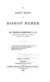 The Last Days of Bishop Heber