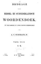 Bijdrage tot een Middel- en Oudnederlandsch woordenboek: Uit vele glossaria en andere bronnen bijeengezameld, Volume 5