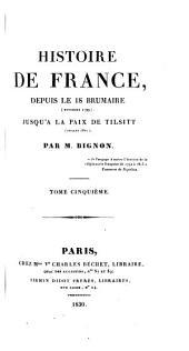 Histoire de France: Volume5