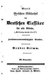 Brüder Grimm: Mit Biogr. [Wilhelm Grimm]