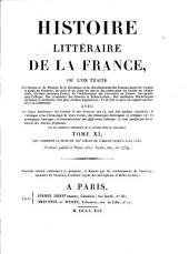Histoire literaire de la France: XIIe siècle: Volume11