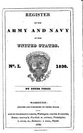 Register of the Army and Navy of the United States: Volume 1